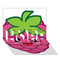 Raspberry HOPE 3D Greeting Card (7x5)