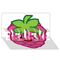 Raspberry BELIEVE 3D Greeting Card (8x4)