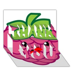Raspberry THANK YOU 3D Greeting Card (7x5)