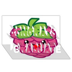 Raspberry Congrats Graduate 3d Greeting Card (8x4)