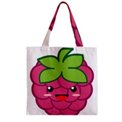 Raspberry Zipper Grocery Tote Bags