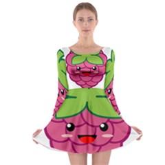 Raspberry Long Sleeve Skater Dress