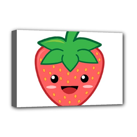 Kawaii Strawberry Deluxe Canvas 18  x 12