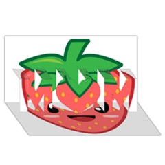 Kawaii Strawberry MOM 3D Greeting Card (8x4)