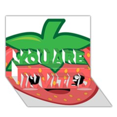 Kawaii Strawberry YOU ARE INVITED 3D Greeting Card (7x5)