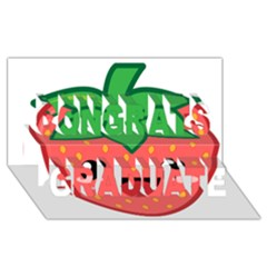 Kawaii Strawberry Congrats Graduate 3D Greeting Card (8x4)
