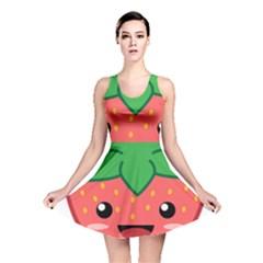 Kawaii Strawberry Reversible Skater Dresses
