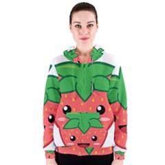 Kawaii Strawberry Women s Zipper Hoodies