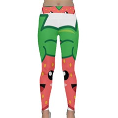Kawaii Strawberry Yoga Leggings