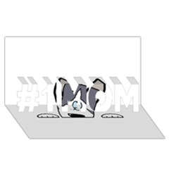 Peeping Siberian Husky #1 MOM 3D Greeting Cards (8x4)