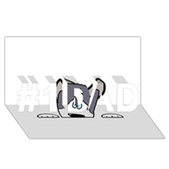 Peeping Siberian Husky #1 DAD 3D Greeting Card (8x4)