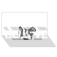 Peeping Siberian Husky BELIEVE 3D Greeting Card (8x4)