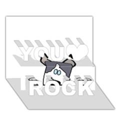 Peeping Siberian Husky You Rock 3D Greeting Card (7x5)
