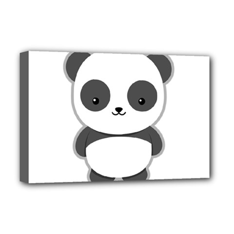 Kawaii Panda Deluxe Canvas 18  x 12