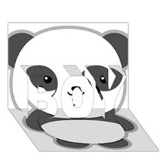 Kawaii Panda Boy 3d Greeting Card (7x5)