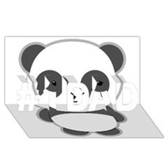 Kawaii Panda #1 Dad 3d Greeting Card (8x4)