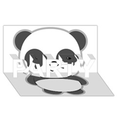 Kawaii Panda PARTY 3D Greeting Card (8x4)