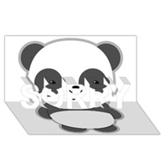 Kawaii Panda SORRY 3D Greeting Card (8x4)