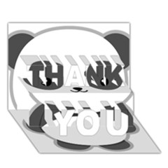 Kawaii Panda THANK YOU 3D Greeting Card (7x5)