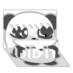 Kawaii Panda You Did It 3D Greeting Card (7x5)