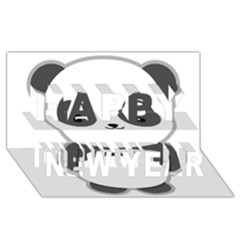 Kawaii Panda Happy New Year 3D Greeting Card (8x4)