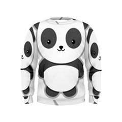 Kawaii Panda Boys  Sweatshirts