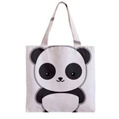 Kawaii Panda Zipper Grocery Tote Bags