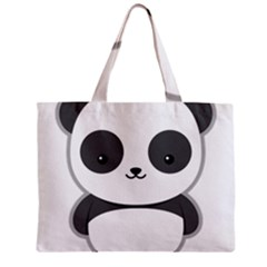 Kawaii Panda Zipper Tiny Tote Bags