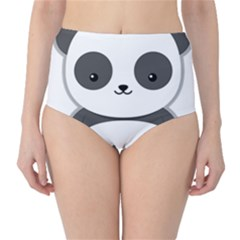Kawaii Panda High-Waist Bikini Bottoms
