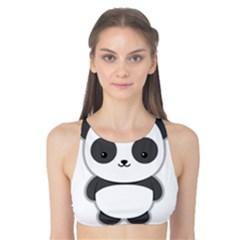 Kawaii Panda Tank Bikini Top