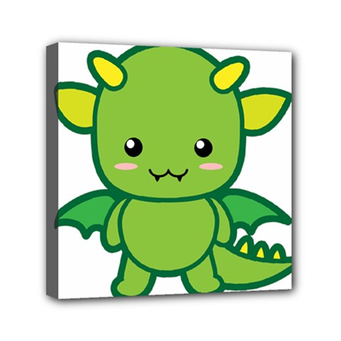 Kawaii Dragon Mini Canvas 6  x 6