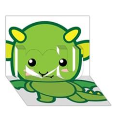 Kawaii Dragon I Love You 3d Greeting Card (7x5)