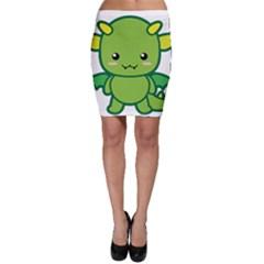 Kawaii Dragon Bodycon Skirts