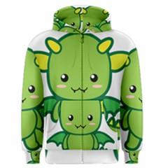 Kawaii Dragon Men s Zipper Hoodies