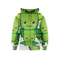 Kawaii Dragon Kids Zipper Hoodies