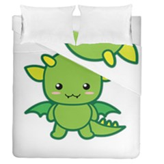 Kawaii Dragon Duvet Cover (full/queen Size)