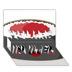 Kawaii Sushi YOU ARE INVITED 3D Greeting Card (7x5)