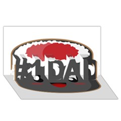 Kawaii Sushi #1 DAD 3D Greeting Card (8x4)