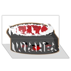 Kawaii Sushi Best Wish 3D Greeting Card (8x4)