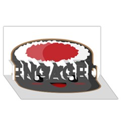 Kawaii Sushi Engaged 3d Greeting Card (8x4)
