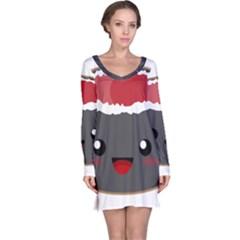 Kawaii Sushi Long Sleeve Nightdresses