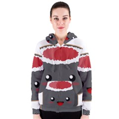 Kawaii Sushi Women s Zipper Hoodies