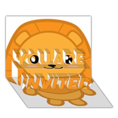 Kawaii Lion YOU ARE INVITED 3D Greeting Card (7x5)