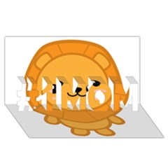 Kawaii Lion #1 MOM 3D Greeting Cards (8x4)