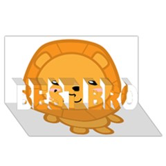 Kawaii Lion Best Bro 3d Greeting Card (8x4)