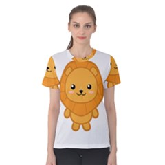 Kawaii Lion Women s Cotton Tees