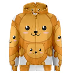 Kawaii Lion Men s Zipper Hoodies