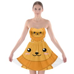 Kawaii Lion Strapless Bra Top Dress