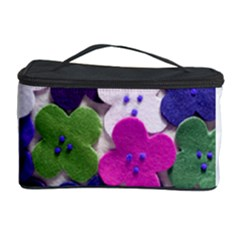 Cotton Flower Buttons  Cosmetic Storage Cases