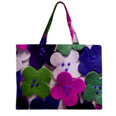 Cotton Flower Buttons  Zipper Tiny Tote Bags